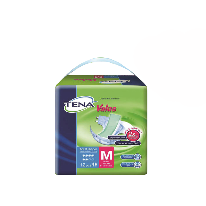 TENA Value - Medium (M) 8Bags/Carton